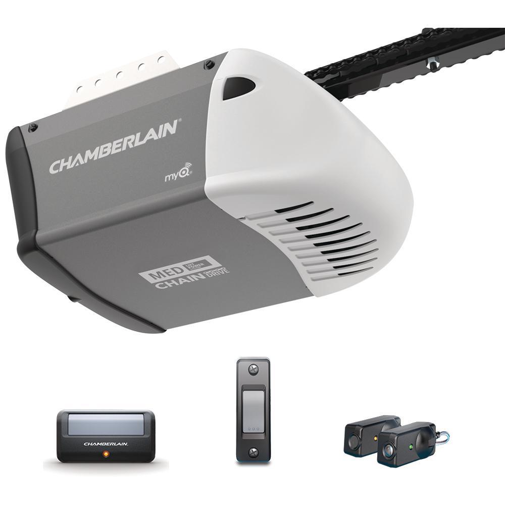 medium resolution of chamberlain 1 2 hp heavy duty chain drive garage door opener