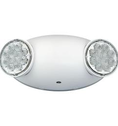 white 2 light thermoplastic integrated led emergency light [ 1000 x 1000 Pixel ]