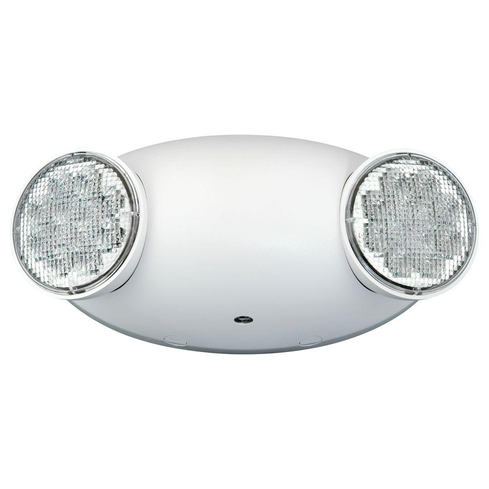hight resolution of white 2 light thermoplastic integrated led emergency light