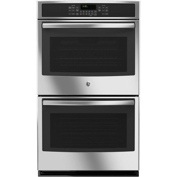 Ge 30 In. Double Electric Wall Oven -cleaning With Convection In Stainless Steel-jt5500sfss