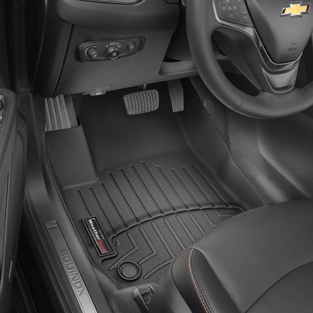medium resolution of weathertech black front floorliner vinyl floors chevrolet silverado 1500 2014 2018