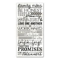 "DESIGNS DIRECT 20 in. x 10 in. ""Family Rules"" Printed ..."