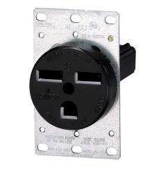 30 amp 2 pole flush mount shallow single outlet black [ 1000 x 1000 Pixel ]