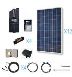 renogy 3600 watt 48 volt polycrystalline solar cabin kit for off renogy wiring diagram  [ 1000 x 1000 Pixel ]