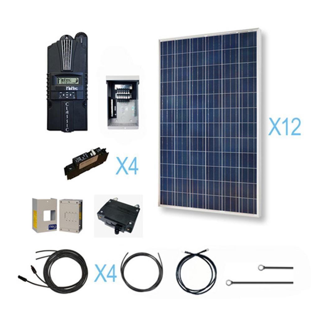 medium resolution of renogy 3600 watt 48 volt polycrystalline solar cabin kit for off renogy wiring diagram