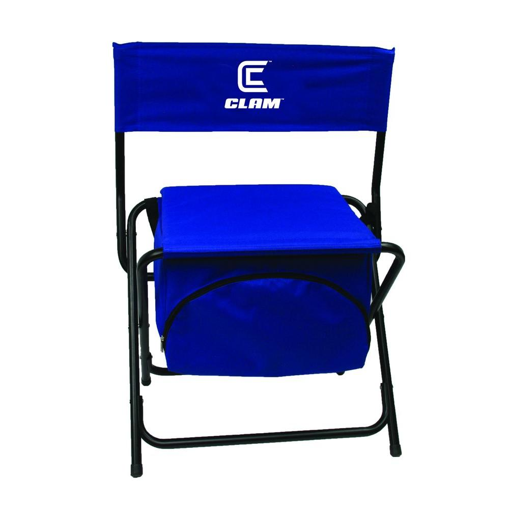 fishing cooler chair swivel operations clam folding 8823 the home depot