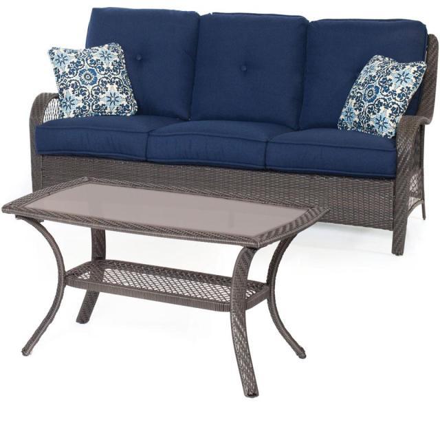 cambridge merritt 2-piece all-weather patio seating set with navy