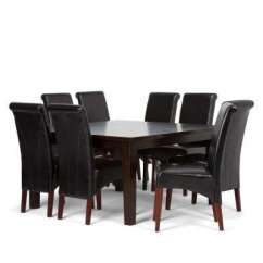 Black Dining Table And Chairs Gel Chair Cushion Room Sets Kitchen Furniture The Avalon