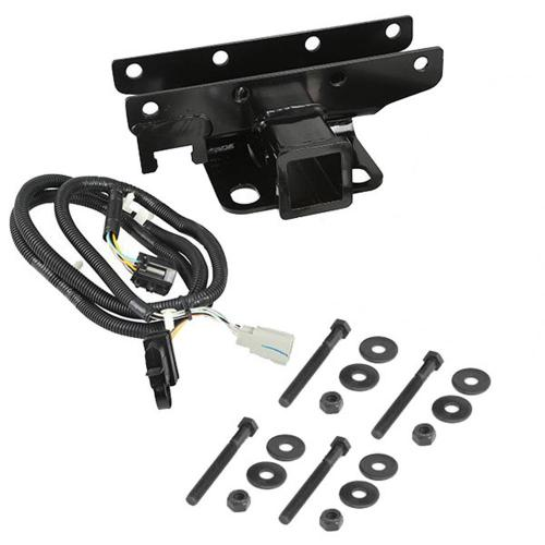 small resolution of receiver hitch kit with wiring harness 07 18 jeep wrangler jk