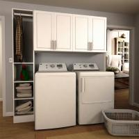 Modifi Madison 75 in. W White Tower Storage Laundry ...