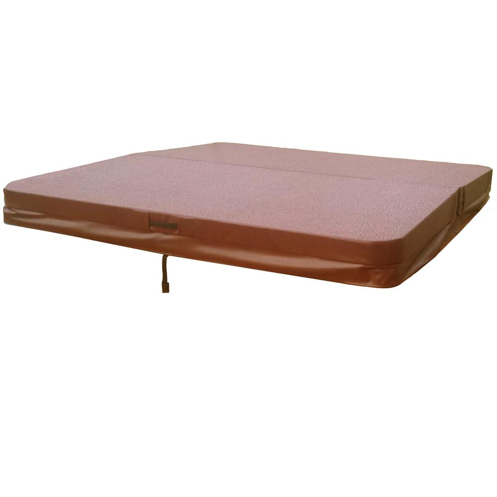 medium resolution of hot tub spa cover for leisure bay 5 in 3 in thick 5 in radius corners in brown