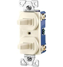 eaton commercial grade 15 amp single pole 2 toggle switches with back and side wiring  [ 1000 x 1000 Pixel ]