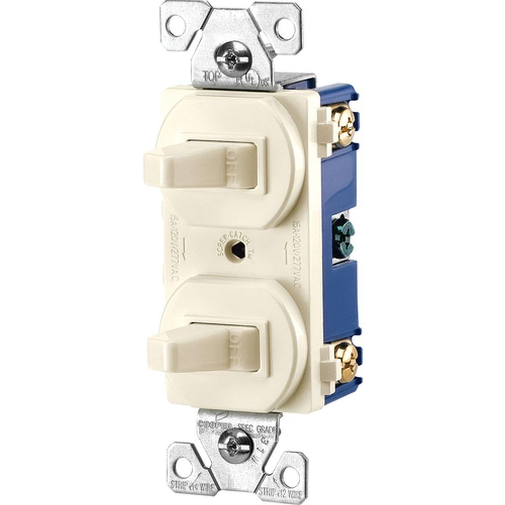 medium resolution of eaton commercial grade 15 amp single pole 2 toggle switches with back and side wiring
