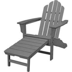 Gray Adirondack Chairs Dining Chair Covers Amazon Uk Patio The Grey All Weather Plastic Outdoor With Hide Away Ottoman