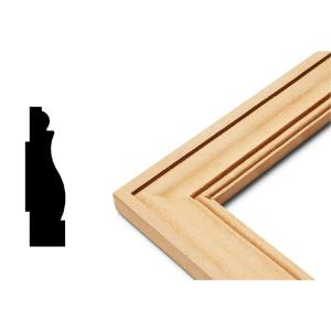 chair rail pros and cons neutral posture xsm cape cod 8 ft white mdf base moulding trim kit 2 edge collection 3 4 in x 23