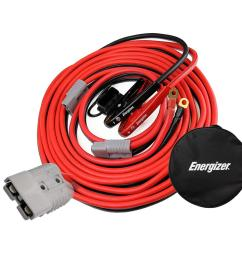energizer 1 gauge 30 ft jumper cables with quick connect enb130a gibson quick connect wiring jumper [ 1000 x 1000 Pixel ]