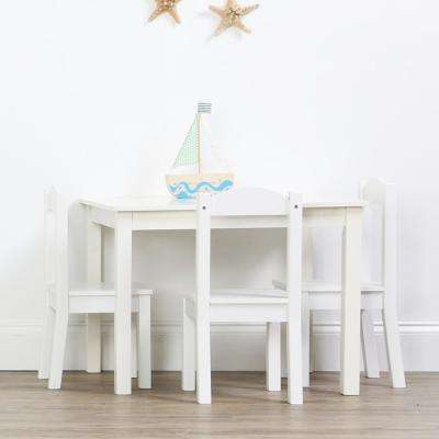 white table chairs elastic kitchen chair covers kids tables playroom the home depot 5 piece cambridge natural and set