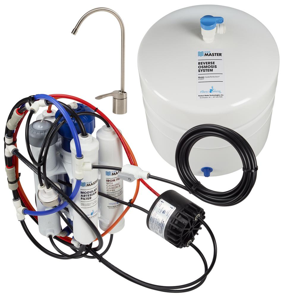 hight resolution of home master hydroperfection loaded under sink reverse osmosis water filter system