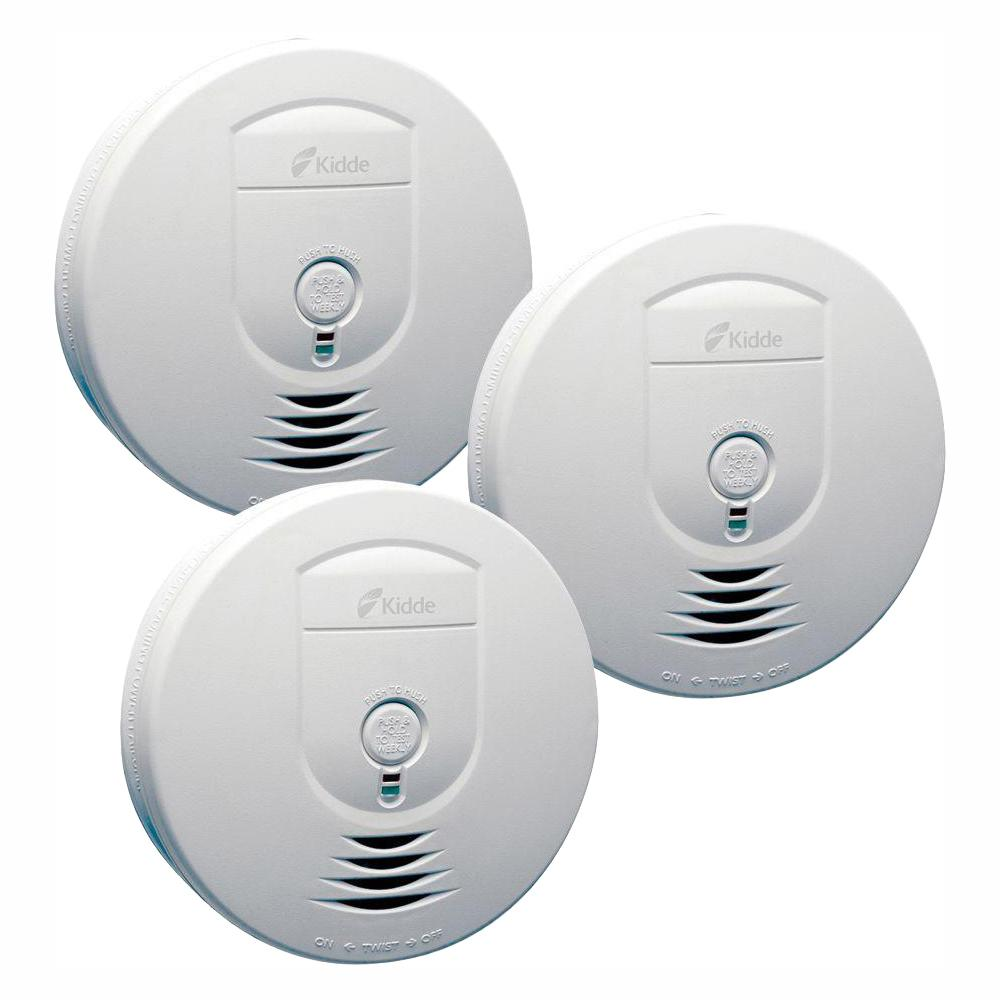 hight resolution of kidde battery operated smoke detector with wire free interconnect 3 pack