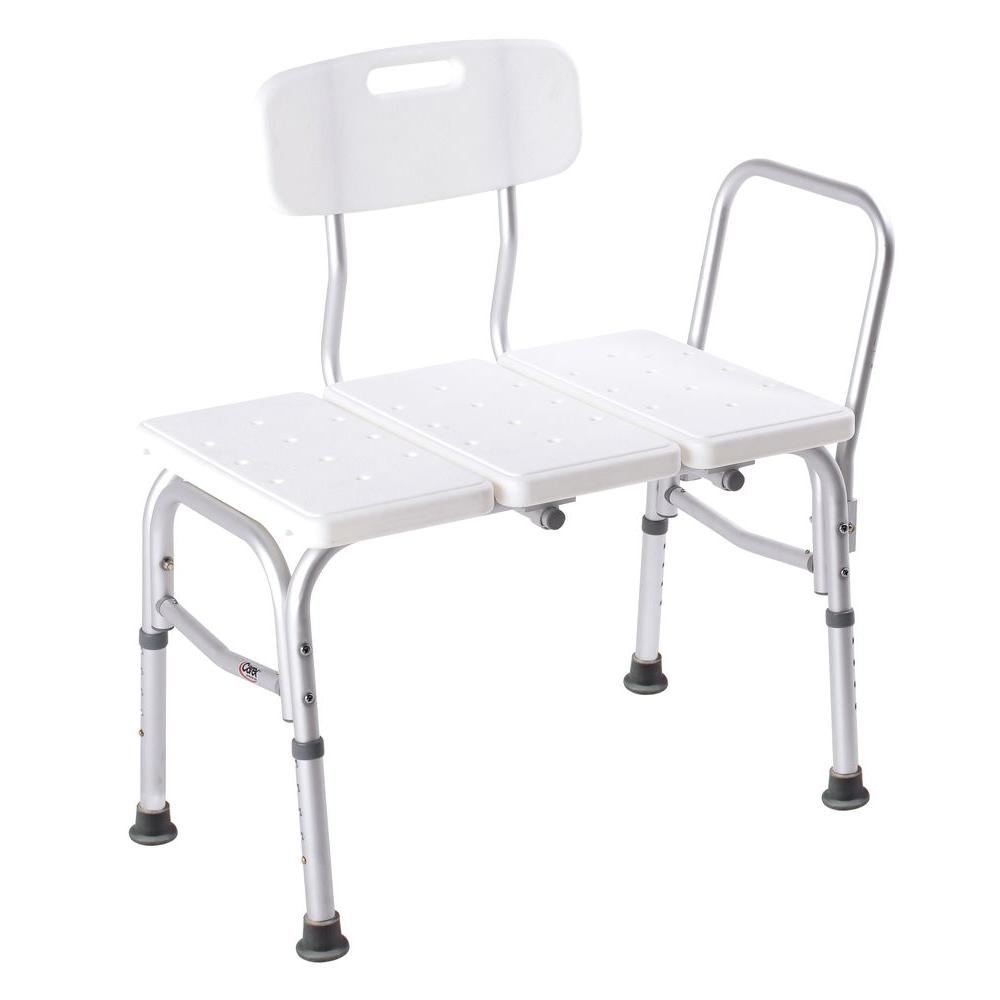 carex shower chair tufted wing dining health brands transfer tub seat fgb15411 0000 the home depot