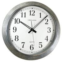 Timekeeper Products 16 in. Round Galvanized Metal Rim Wall ...