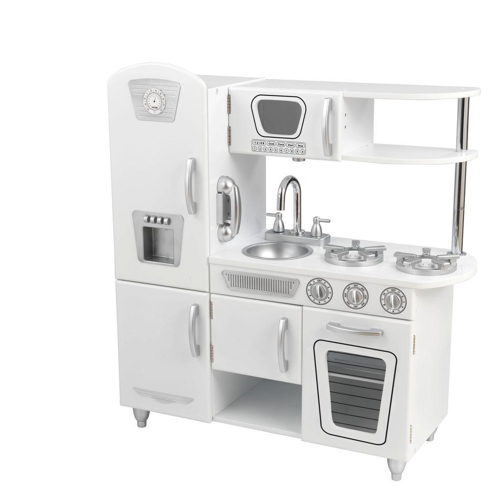 kid craft kitchen refurbished kitchens for sale kidkraft white vintage playset 53208 the home depot