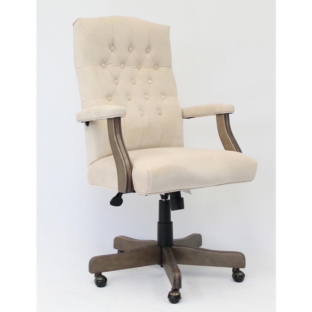 office chair gold rolling chairs on hardwood floors swivel desk home executive champagne velvet