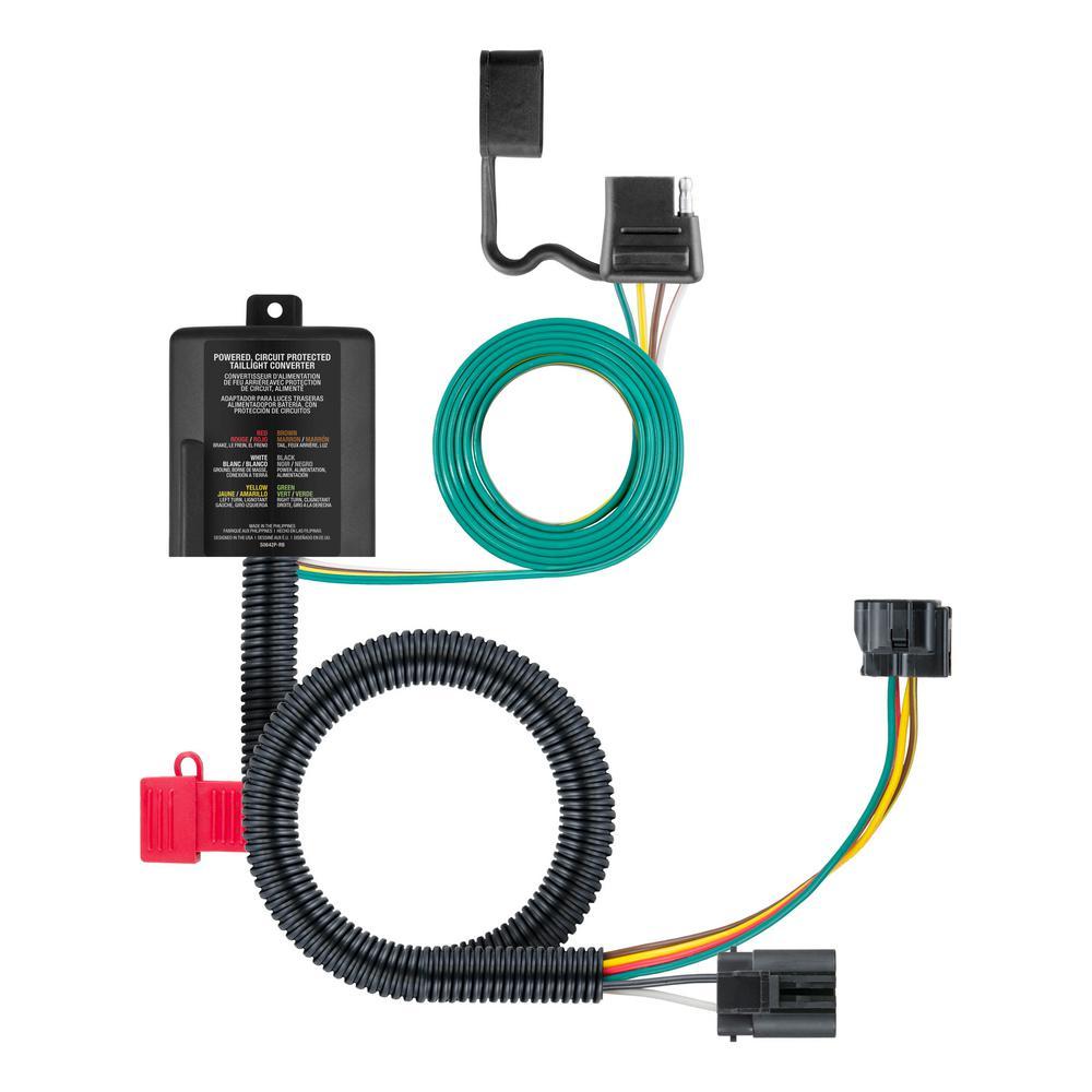 medium resolution of curt custom wiring connector 4 way flat output 56332 the home depot trailer wiring home depot