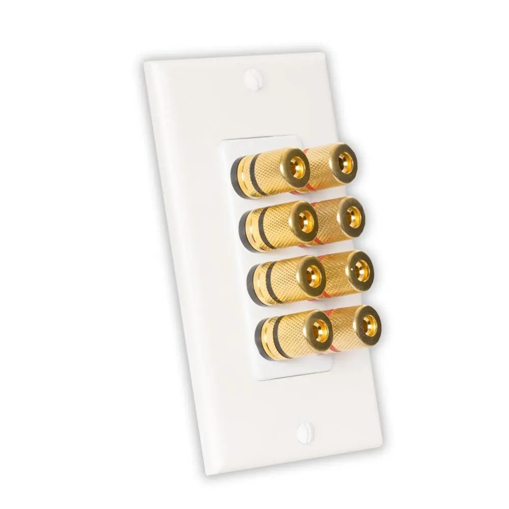medium resolution of theater solutions by goldwood home theater speaker wire wall plate 4 speaker 8 posts
