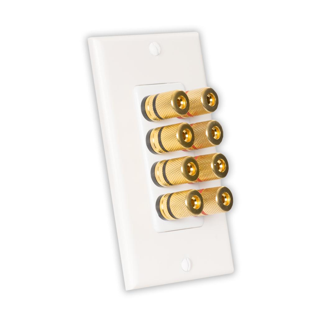 hight resolution of theater solutions by goldwood home theater speaker wire wall plate 4 speaker 8 posts