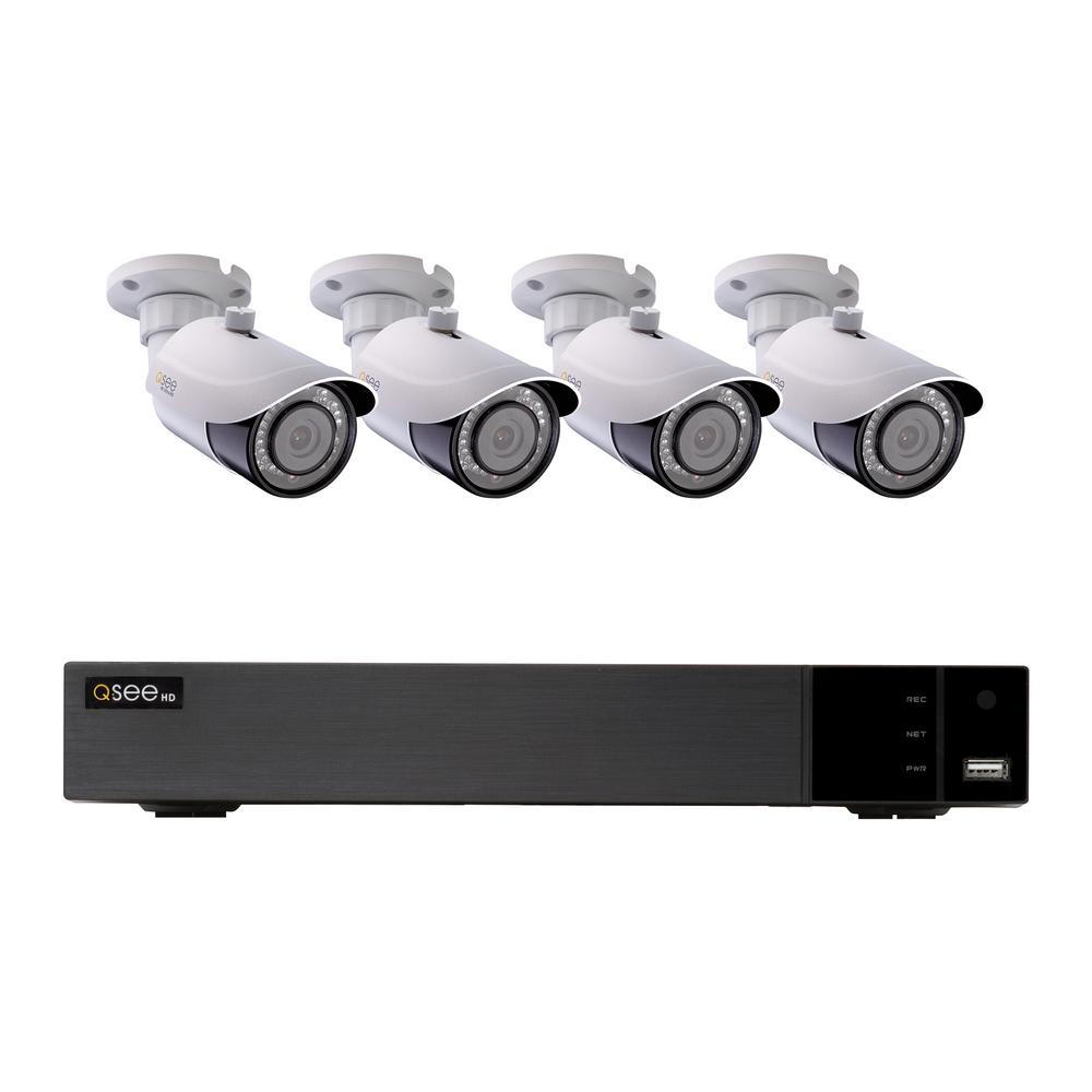 hight resolution of 8 channel 4k 2tb h 265 nvr security surveillance system with 4 8mp ip bullet cameras