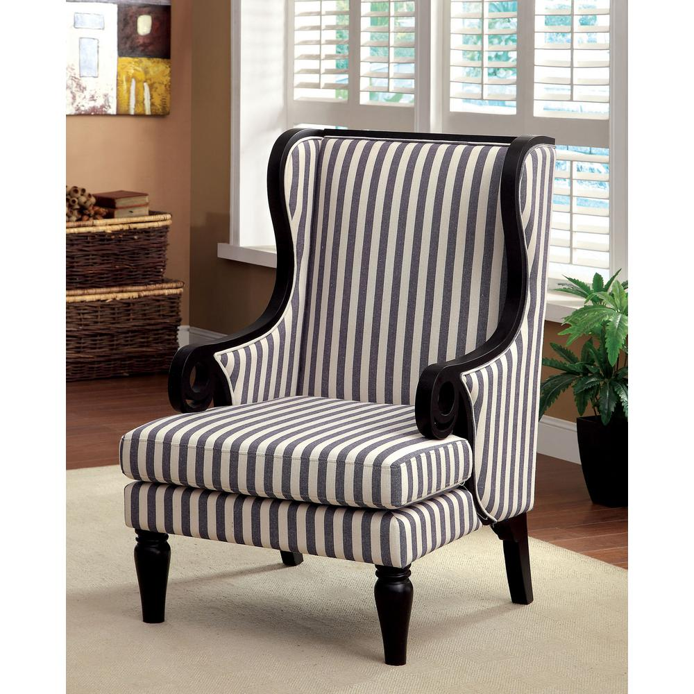 transitional accent chairs sure fit dining room chair covers with arms riviera white and dark blue stripe cm internet 307697394