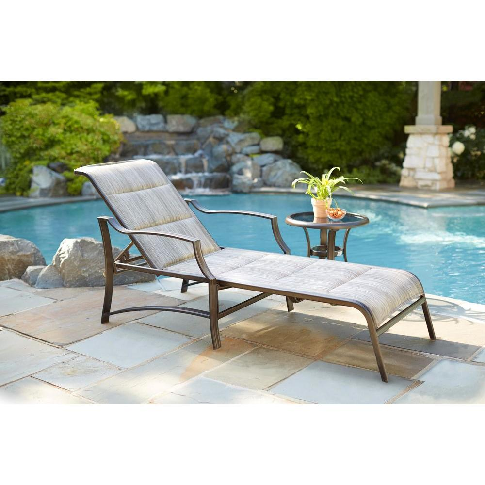 Sunbathing Chairs Statesville Padded Patio Chaise Lounge