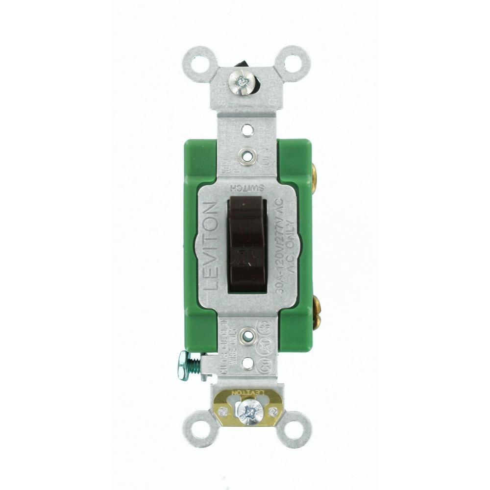 medium resolution of cooper wiring devices 30amp brown single pole locking light switch leviton 30 amp industrial grade heavy