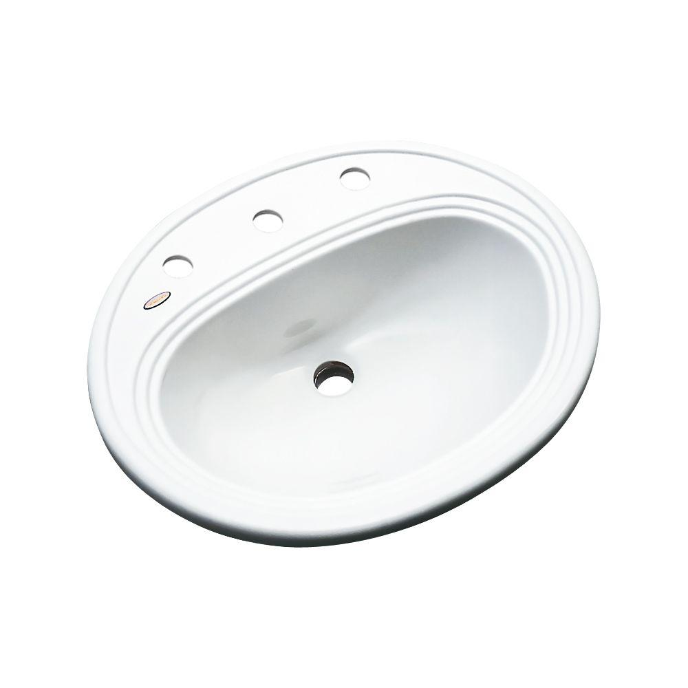 Thermocast Summit Drop In Acrylic Bathroom Sink In White