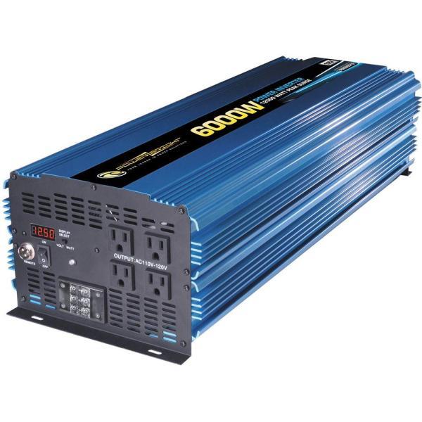 Power Bright 12 Volt Dc Ac 6000-watt Inverter-pw6000-12 - Home Depot