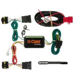 curt custom wiring harness 4 way flat output 56193 the home depotcustom wiring harness [ 1000 x 1000 Pixel ]