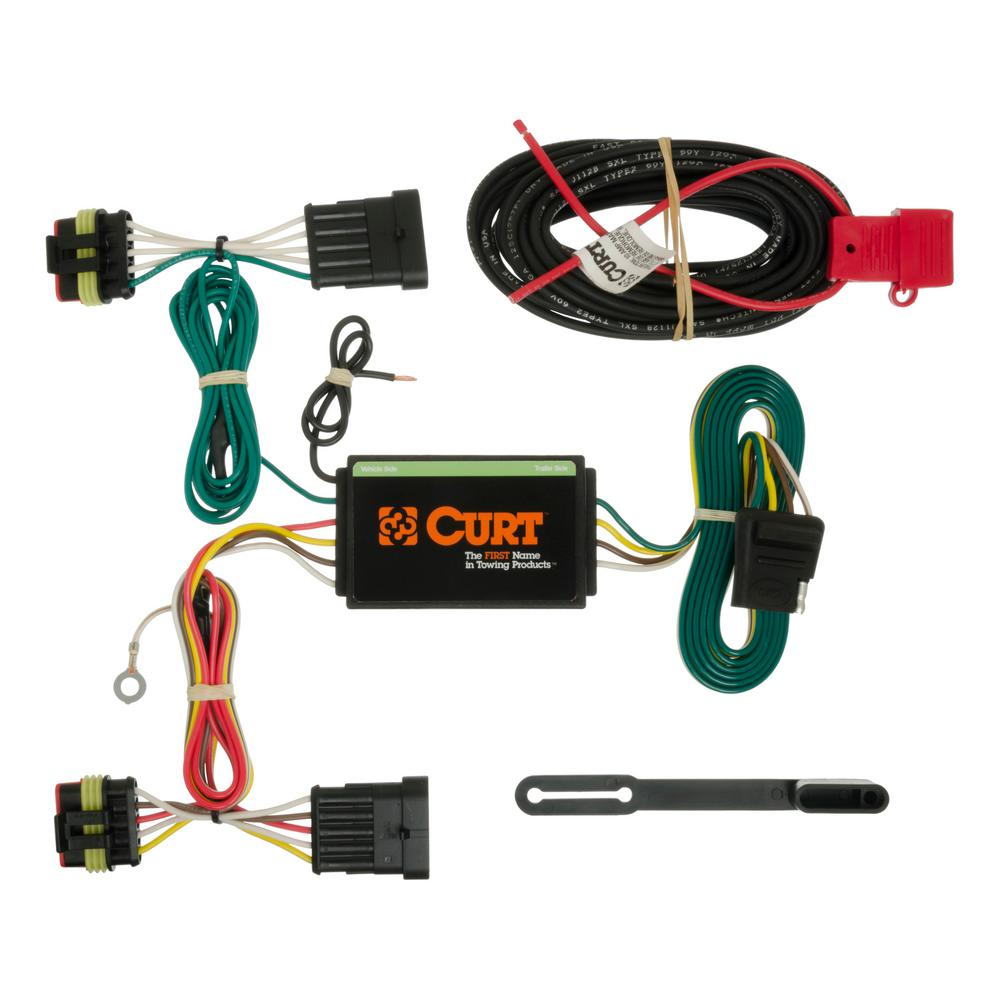 hight resolution of curt custom wiring harness 4 way flat output 56193 the home depotcustom wiring harness