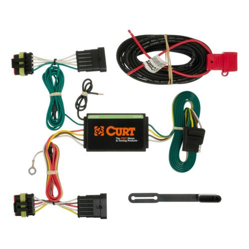 small resolution of curt custom wiring harness 4 way flat output 56193 the home depotcustom wiring harness
