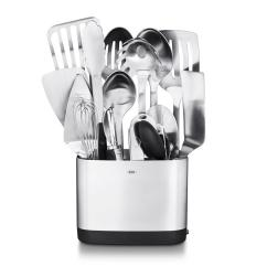 Oxo Kitchen Utensils Design Maker Steel Utensil Set Of 15 3114600 The Home Depot