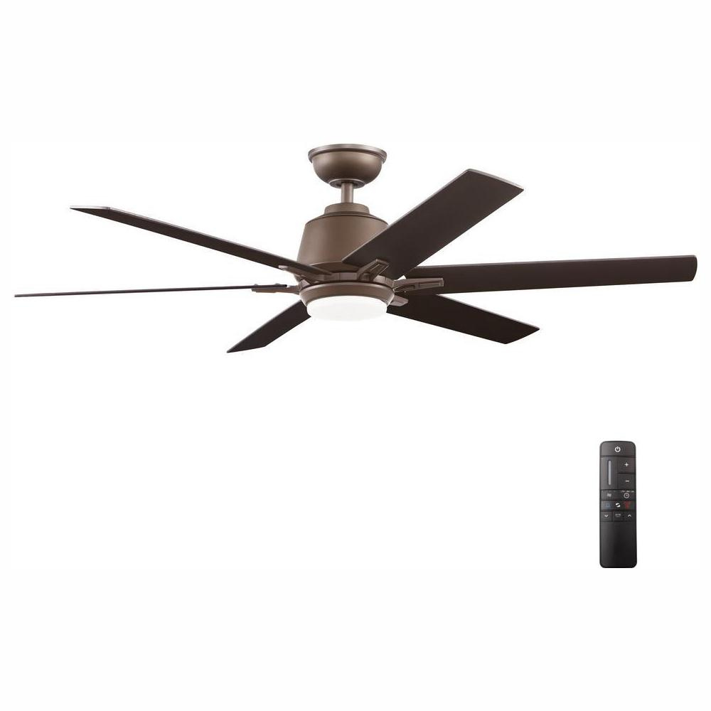 medium resolution of integrated led indoor espresso bronze ceiling fan with