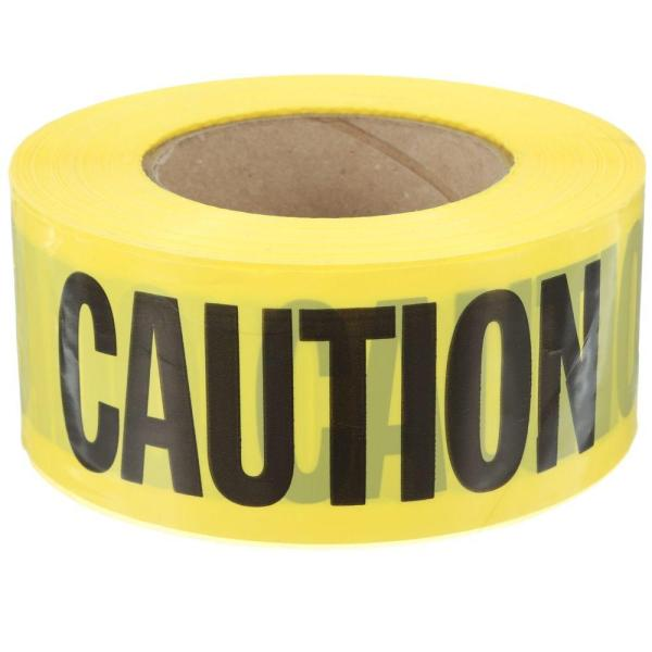 Hdx 3 In. X 1000 Ft. Caution Tape In Yellow-71-1012hd - Home Depot