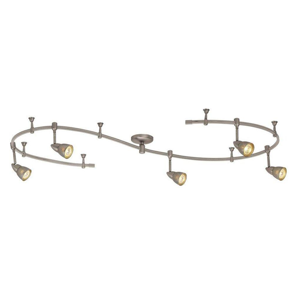 Hampton Bay 10 ft. 5-Light Brushed Steel Line-Voltage