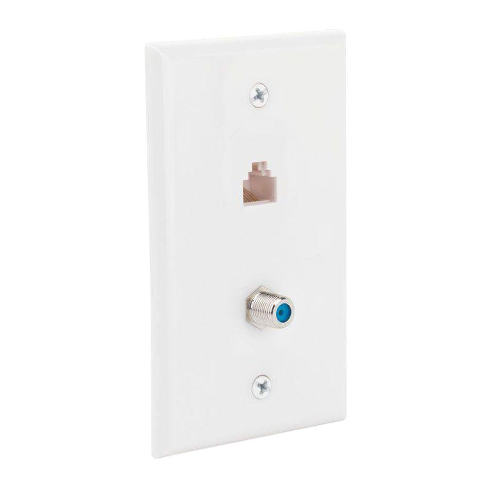 hight resolution of network and coax wall plate