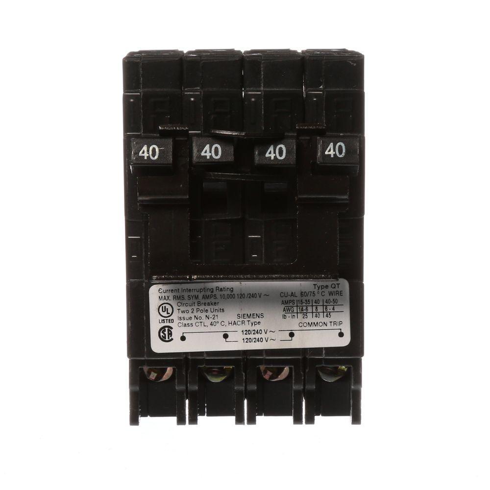 40 Amp 2pole Gfci Circuit Breakerhom240gfic The Home Depot