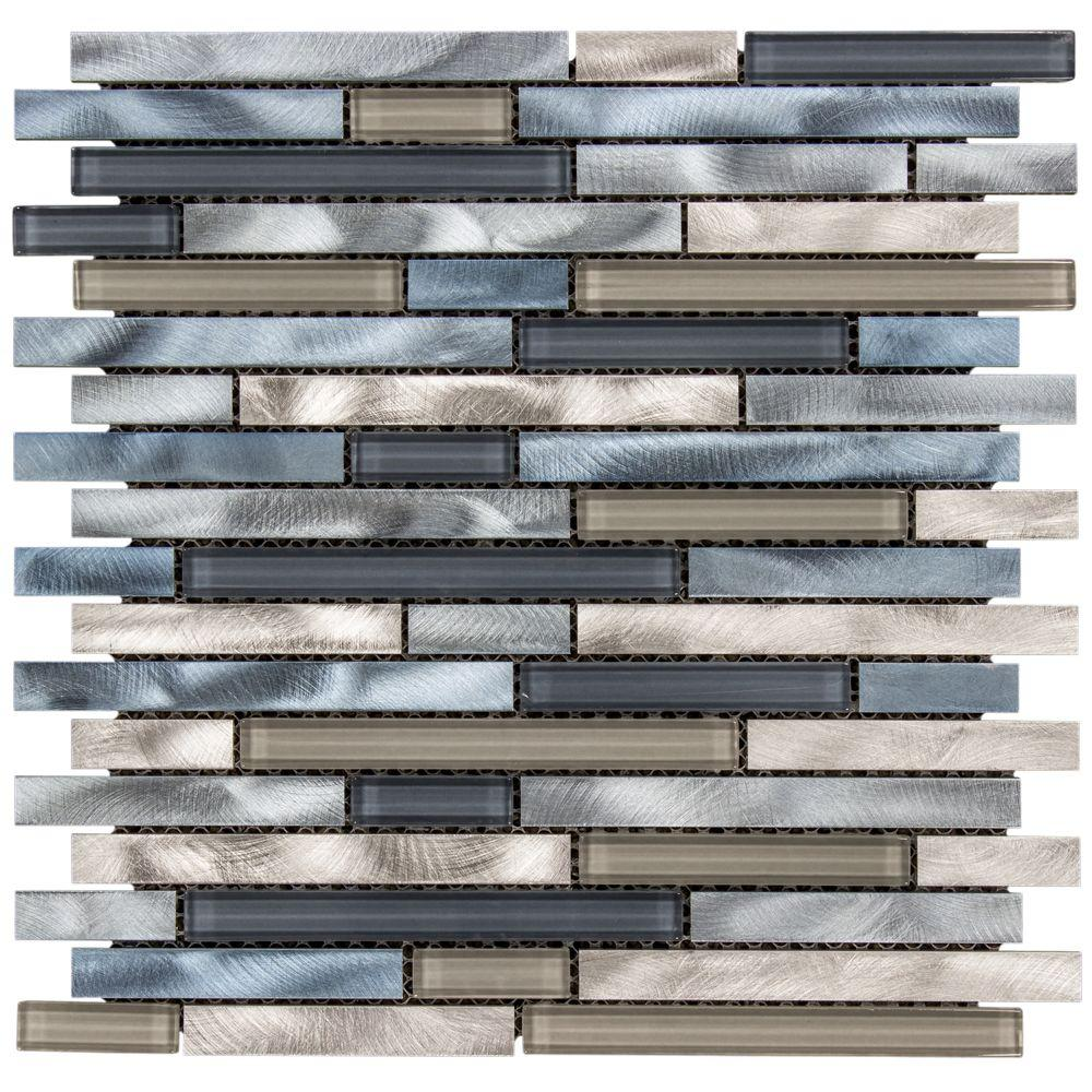 italian fossil foil 11 75 in x 11 75 in x 8 mm glass marble mosaic wall tile 99174 202530611
