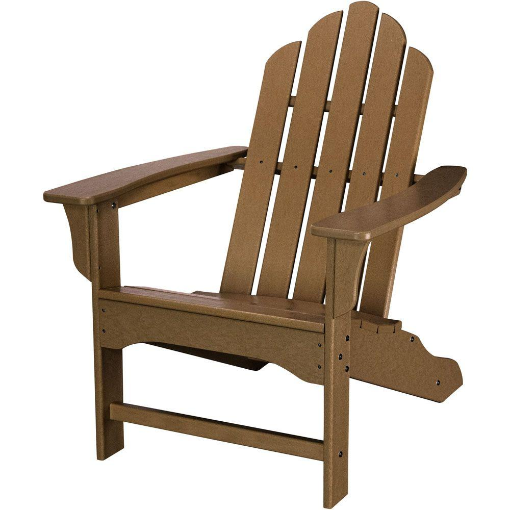 Adirondack Chair Reviews Hanover Mahogany All Weather Plastic Outdoor Adirondack Chair