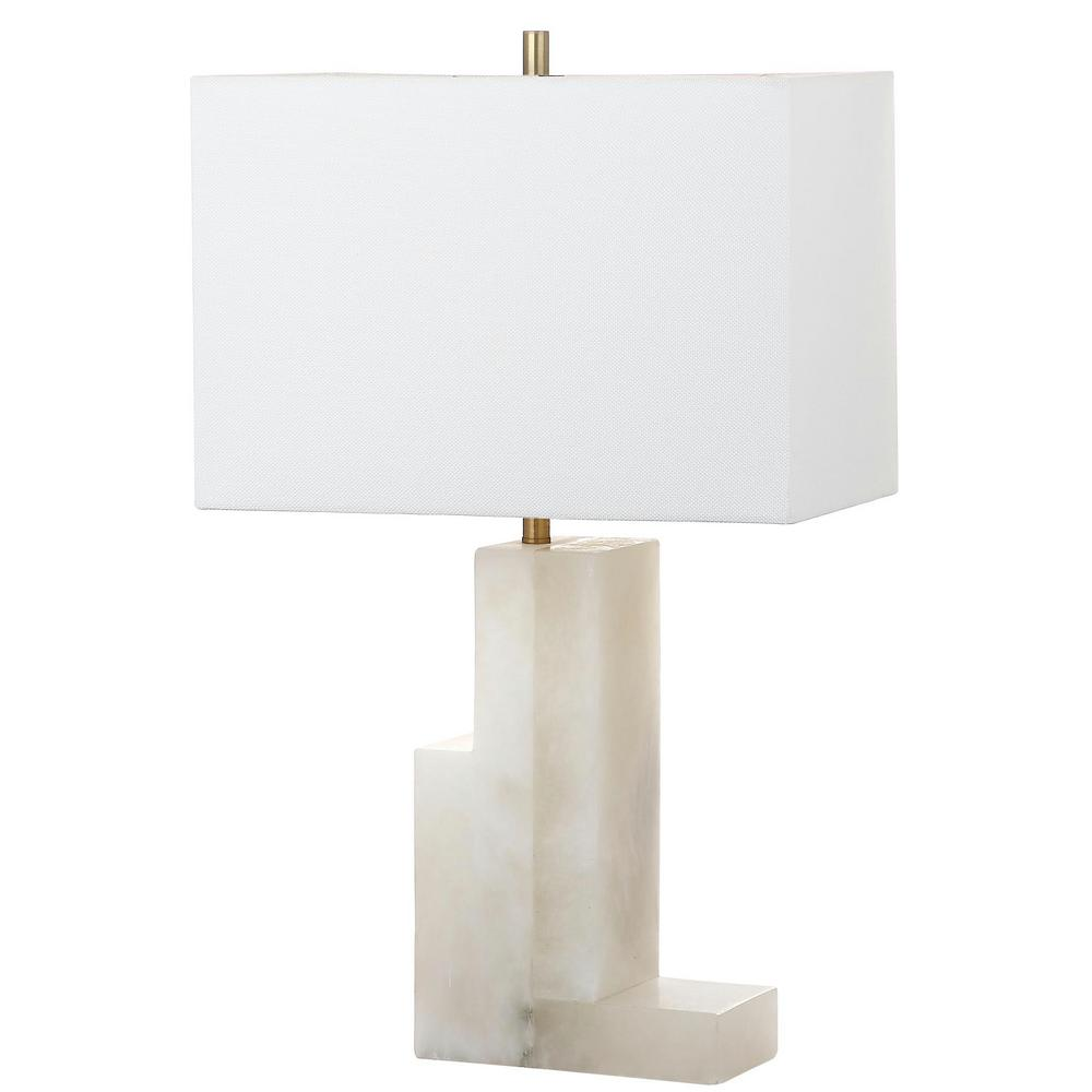 Hampton Bay Duval 27.75 in. Weathered White Table Lamp