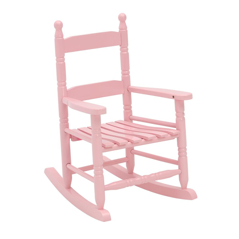 Jack Post Pink Wood Patio Childrens Outdoor Rocking Chair