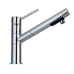 Pegasus Kitchen Faucet Countertop Cleaner Elba Contemporary Single Handle Pull Out Sprayer In Brushed Nickel